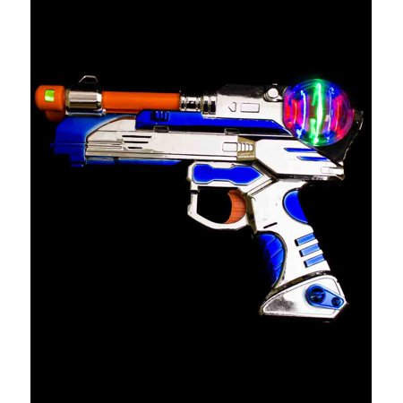 Fun Central (AZ947) 1 pc 9 Inch LED Spinning Pistol, LED Light Up Toys, LED Light Blaster, Toy Gun with Lights