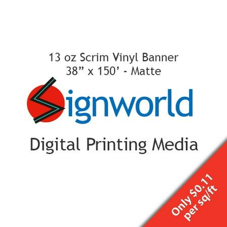 "13 oz Scrim Vinyl Banner - 38"" X 150"