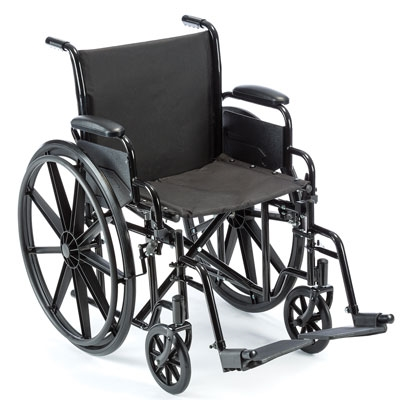 Value K1 Wheelchair with Footrests, 20x16 - 1 Each / Each
