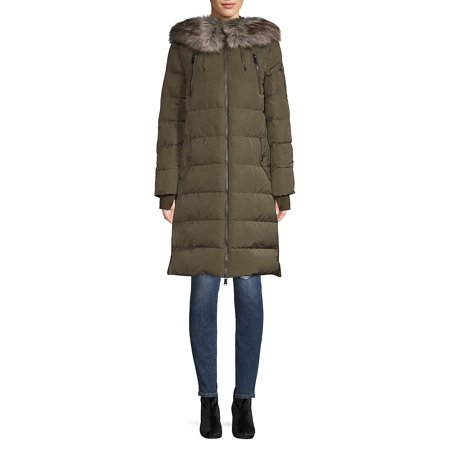 Marc New York Quilted Jacket - Quilted Faux Fur Coat