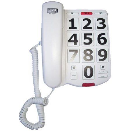 Future Call FC1507 Corded Phone w/ Oversized Keypad Buttons ()