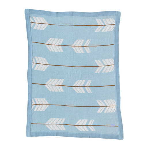 Lolli Living Arrows Knitted Cotton Blanket