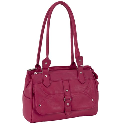 George Pebble Satchel Handbag, Pink