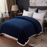 Soft Plush Corduroy Sherpa Lined Oversized Blankets All Season Comfort for Bedroom or Lounging on Couch