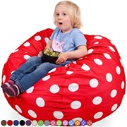 oversized bean bag chair in flaming red   white polka dots - washable big soft comfort cover   memor