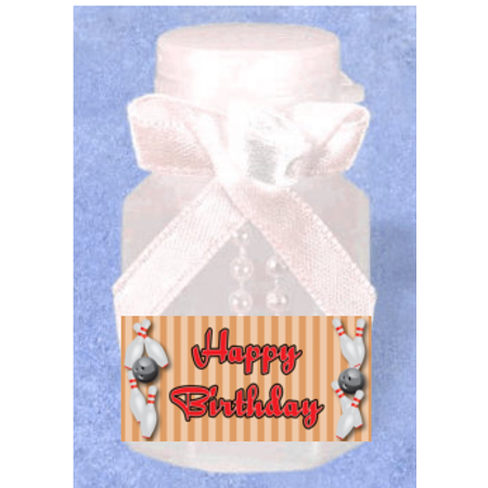Bowling 12pack Mini Bubble Favors - Bubble Blowing Double Baby