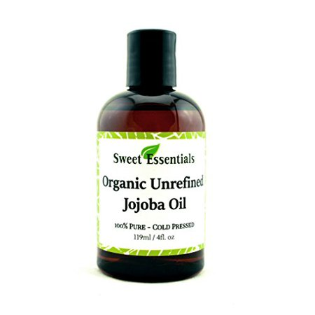 Premium Organic Unrefined Jojoba Oil | 4oz | Imported From Argentina | 100% Pure | Cold Pressed | For Hair, Skin & Nails | Best Natural Moisturizer | Hexane