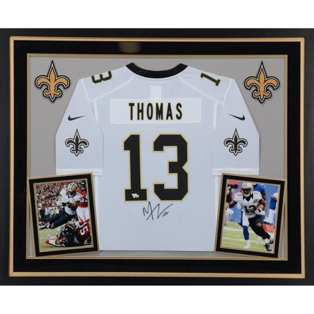 Michael Thomas New Orleans Saints Deluxe Framed Autographed White Game Jersey - Fanatics Authentic Certified