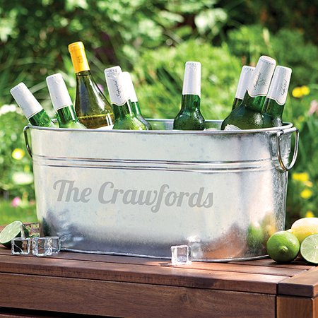 Steel Beverage Tub (Personalized Galvanized Steel Beverage Tub)
