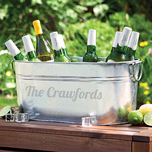 Personalized Galvanized Steel Beverage Tub