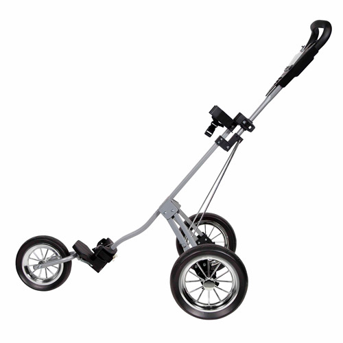 Pinemeadow Golf Courier Cruiser 3-Wheel Golf Cart, Silver Black by