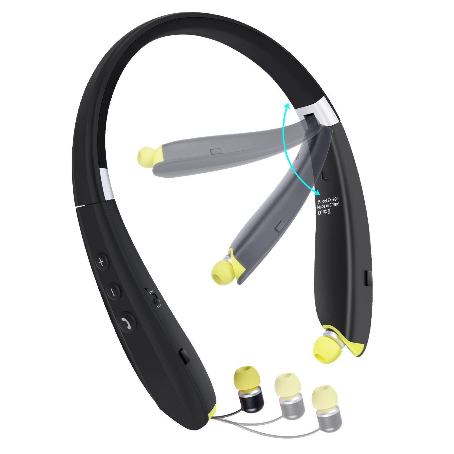 walmart iphone headphones foldable bluetooth headset innlife neckband bluetooth 4947