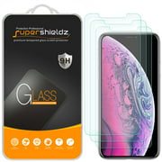 [3-Pack] Supershieldz for Apple iPhone 11 Pro Max / iPhone Xs Max (6.5 inch) Tempered Glass Screen Protector, Anti-Scratch, Anti-Fingerprint, Bubble Free