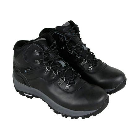 Hi-Tec Altitude Vi I Wp Mens Black Leather Hiking Lace Up Boots Shoes - Black Lace Boots