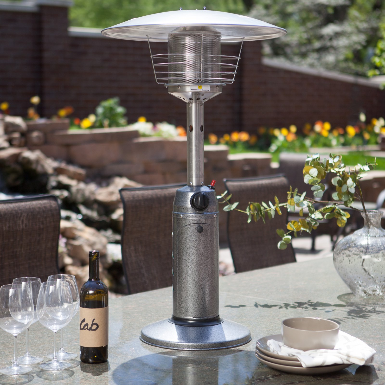 Delicieux AZ Patio Heater Portable Gunmetal Tabletop Heater
