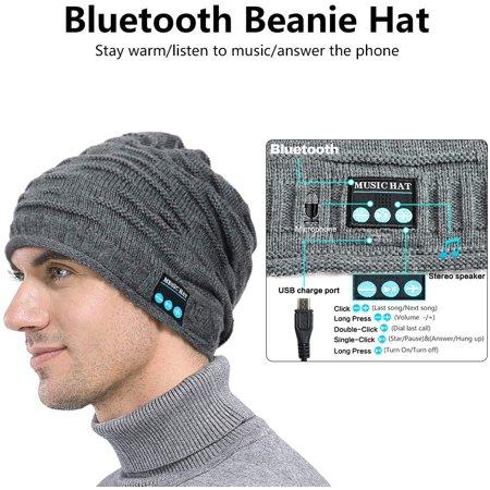 Sunnywoo Bluetooth Beanie Hat, Wireless Bluetooth Hat Smart Headphone Premium Knit Cap with Speaker & Mic, Unisex - image 5 of 5