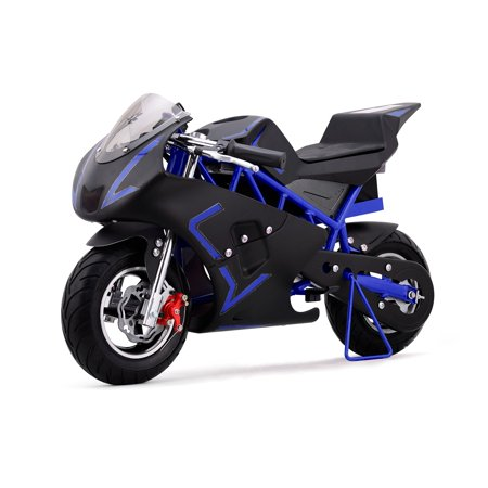 36v pocket bike electric mini bike blue. Black Bedroom Furniture Sets. Home Design Ideas