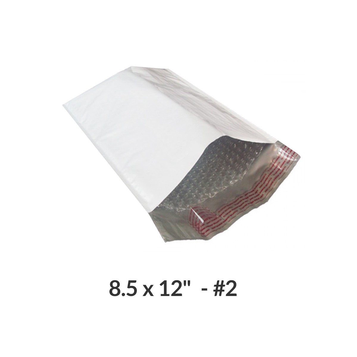 """100 Poly Bubble Mailer Bags 8.5x12"""" #2 Pouches Envelopes White Self-Sealing by Uboxes"""