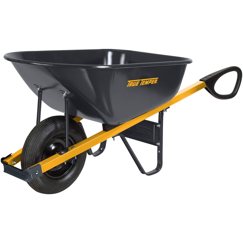 True Temper R6TC14 6 cu ft Total Control Steel Wheelbarrow