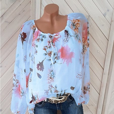 Long Sleeve Chiffon Blouse for Women Casual Tops (Chiffon Blouses And Tops)