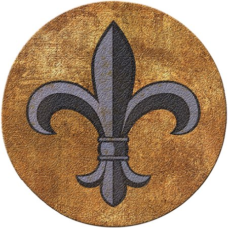 Thirstystone Cork Drink Coasters Set Fleur De Lis