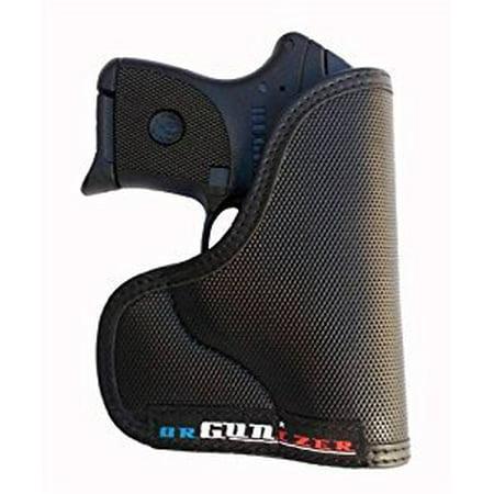 Garrison Grip Custom Fit Leather-Trimmed Pocket Holster Concealed Carry Comfort, Ruger LCP 380 Crimson Trace Laserguard
