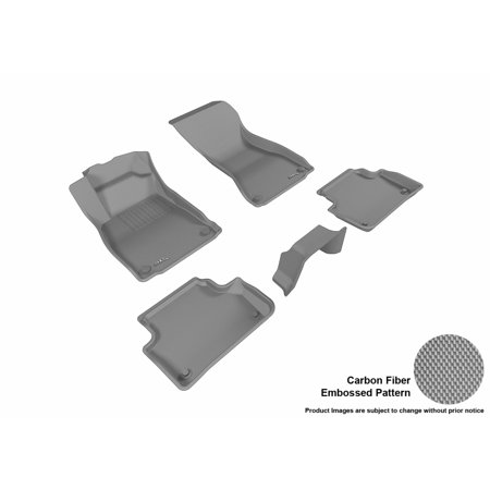3D MAXpider 2017-2017 Audi A4 Front & Second Row Set All Weather Floor Mats in Gray with Carbon Fiber Look (Floor Mats Audi A4)