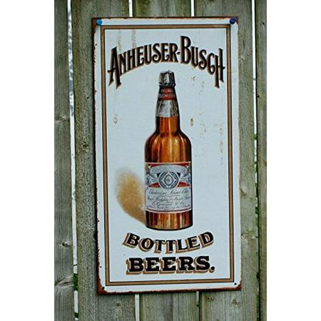 Anheuser Busch - Bottled Beers Metal Tin Sign , (Anheuser Busch Stock)