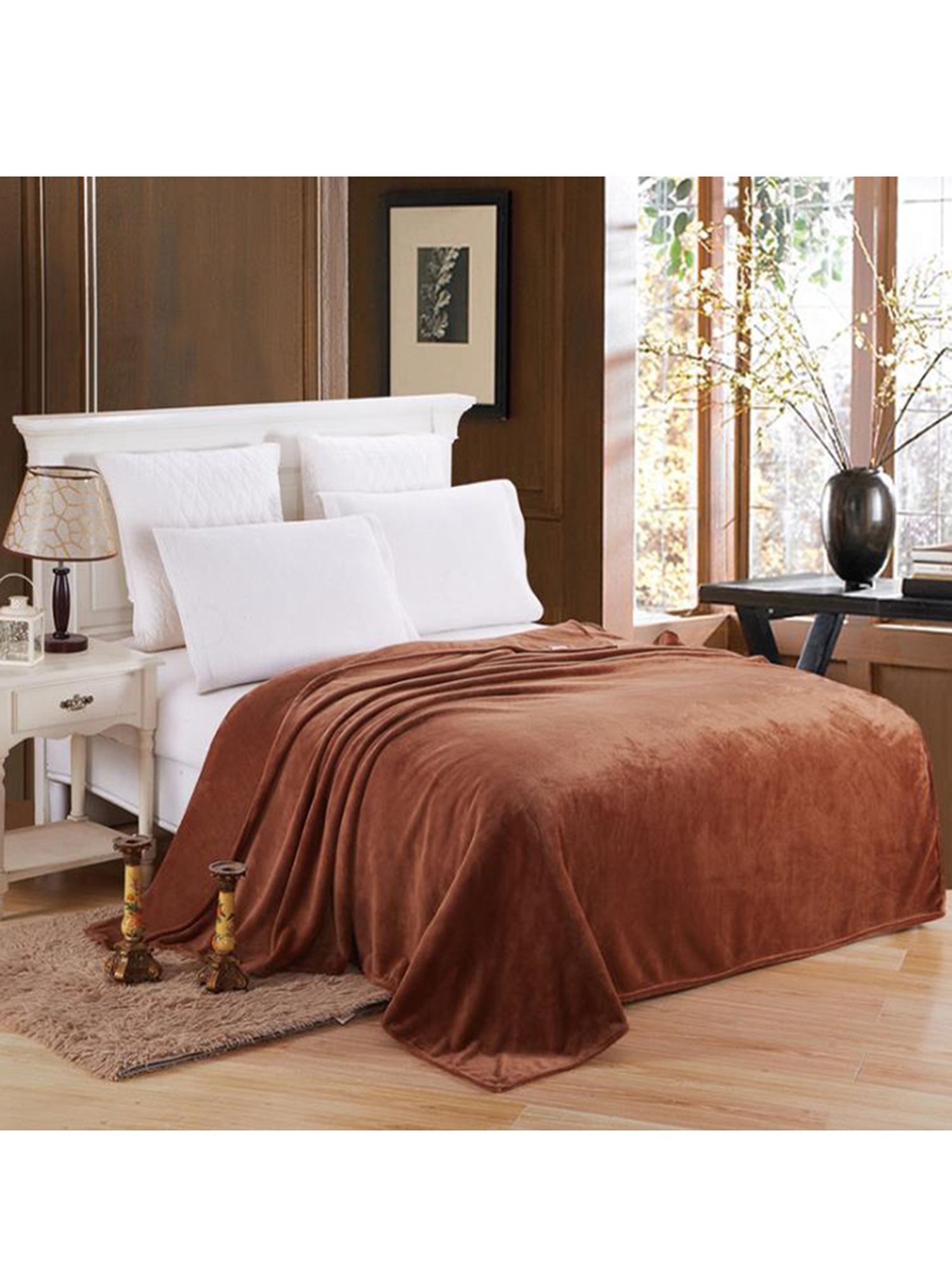 Warm Soft Mink Throw Large Fleece Blanket Double King Size for Couch//Sofa//Bed