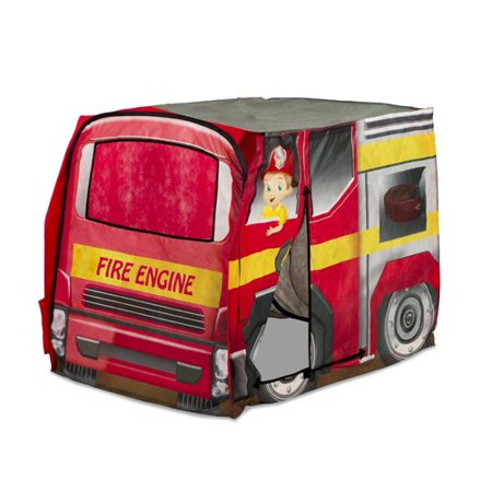 the best attitude fab36 95237 Playhut Vehicle Fire Engine Pop-Up Play Tent - Walmart.com