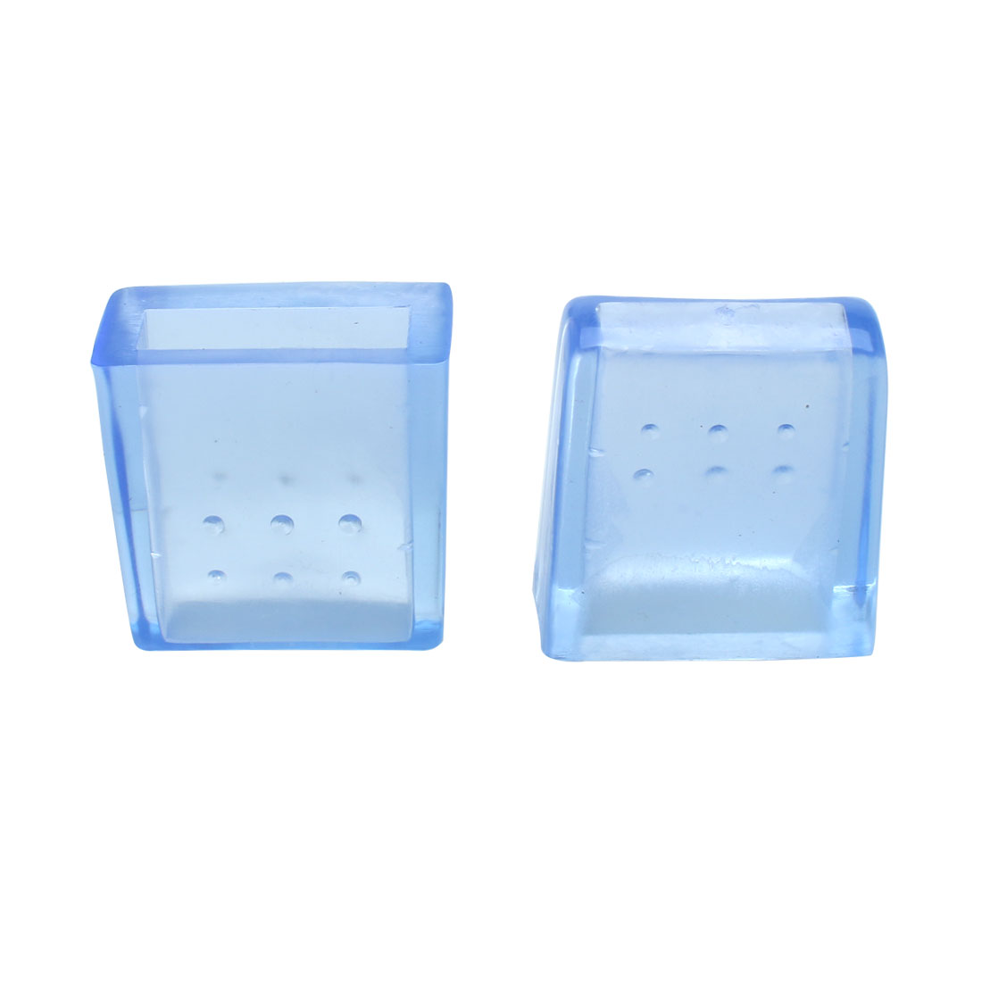 "Clear Blue Sofa Leg Caps End Tip Feet Furniture Protector 6pcs 0.39""x1.18"" (10x30mm) - image 7 of 7"