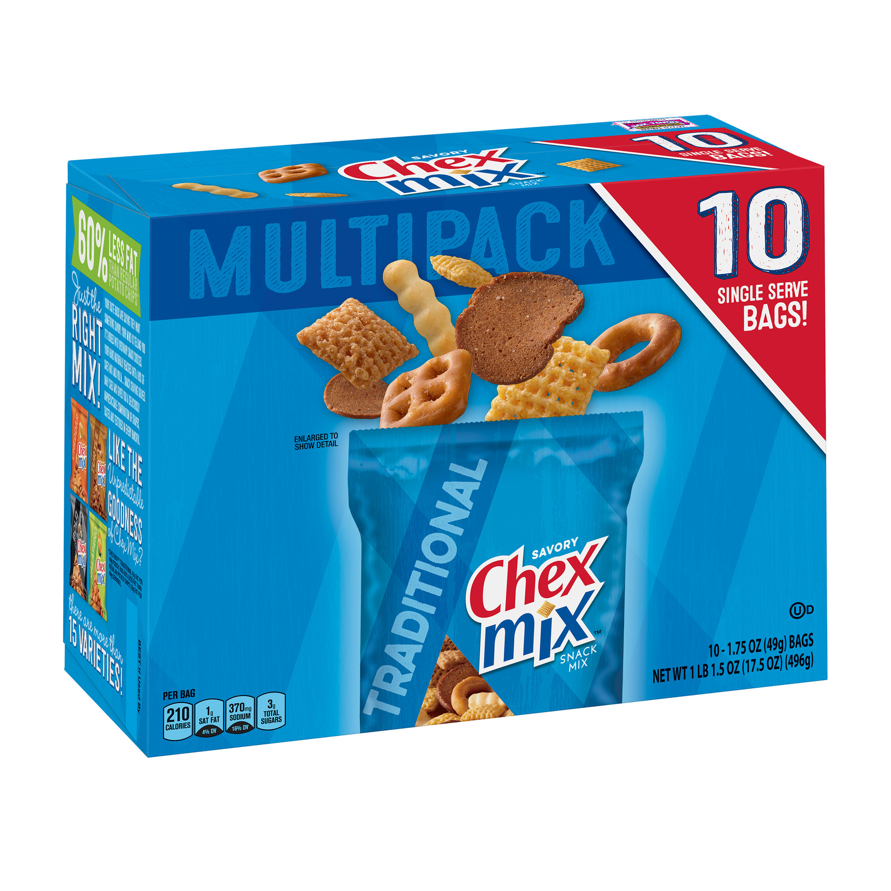 Chex Mix Savory Traditional Snack Mix, 17.5 oz