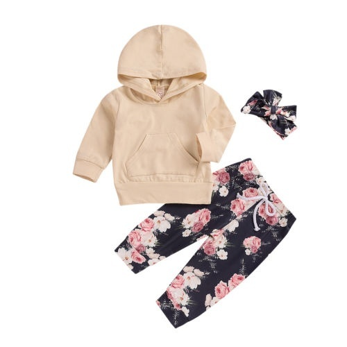 Clothing, Shoes & Accessories 3PCS Newborn Infant Baby Kid Hoodie Tops Long Pants Headband Outfit Clothes