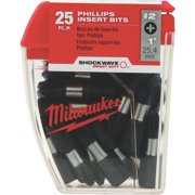 Milwaukee 48-32-4604 #2 Phillips Shockwave Insert Bit (25-Pack)