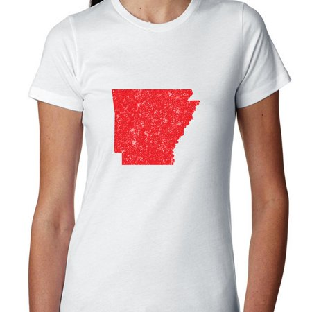 Arkansas Red Republican   Election Silhouette Womens Cotton T Shirt