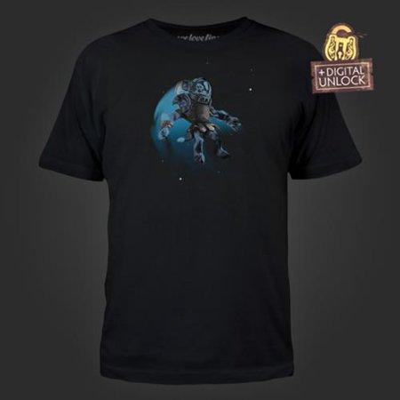 DOTA 2 Space Cow Men's Black Tee with Digital Unlock Code