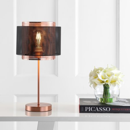 Tribeca 19.7u0022 Metal LED Table Lamp, Copper/Black by JONATHAN Y