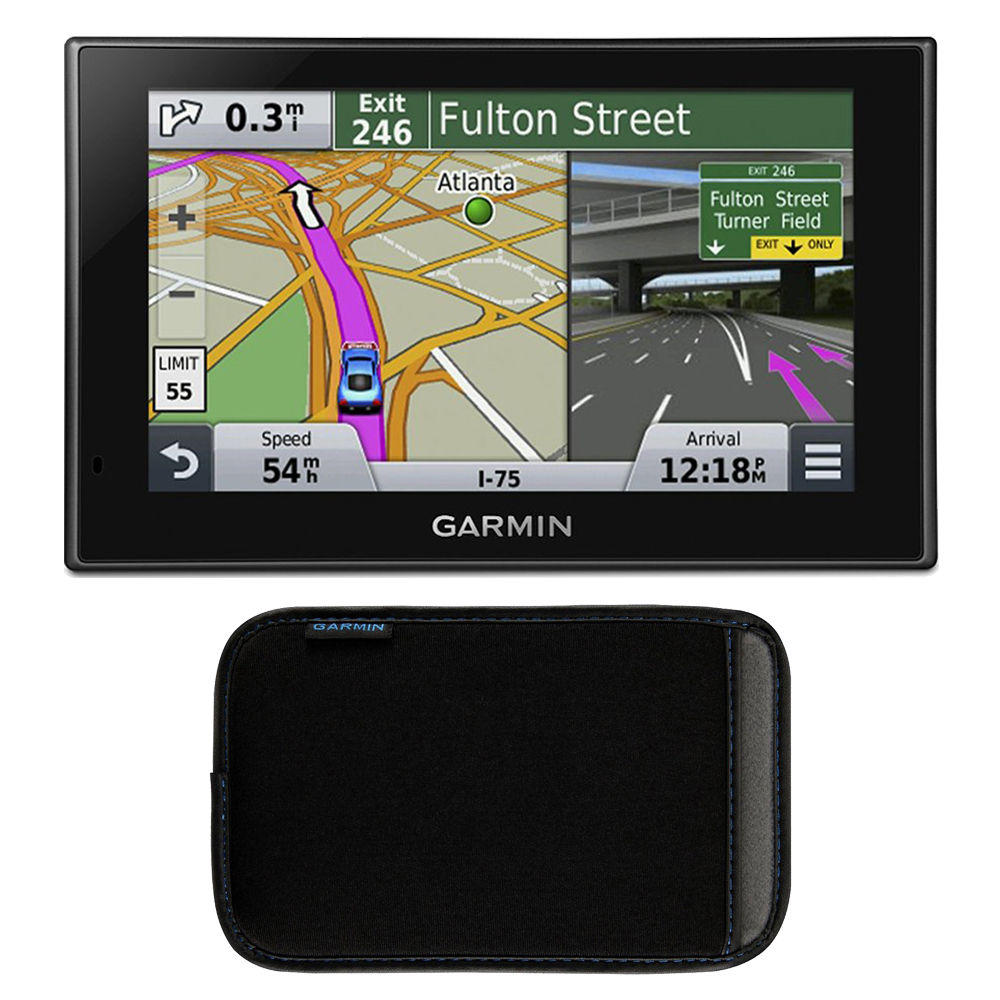 "Garmin nuvi 2589LMT Case Bundle Includes: nuvi 2589LMT Advanced Series 5"" GPS Navigation System w Bluetooth & Lifetime Maps (010-01187-01), and Garmin Nuvi 5 inch Protect, Stow and Carry Case"