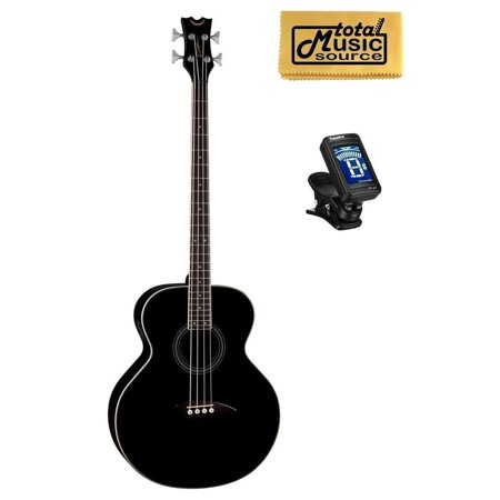 Dean 4 String Acoustic Electric Bass Classic Black FREE TUNER, CLOTH ,EAB CBK