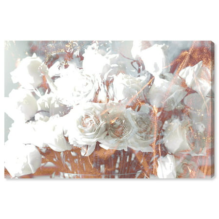 Runway Avenue Floral and Botanical Wall Art Canvas Prints 'Rose Gold Feast' Home Décor, 60