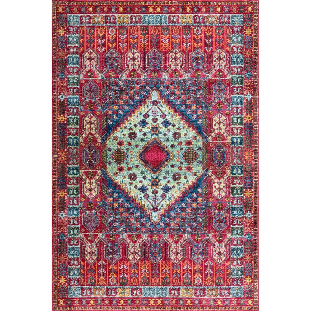 Nuloom Polypropylene 9' X 12' Rectangle Area Rugs In Red Finish 200RZDR10B-9012