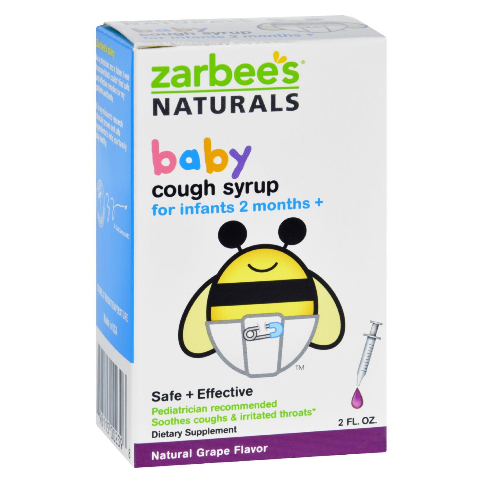 Zarbee S Naturals Baby Cough Syrup Grape 2 Oz