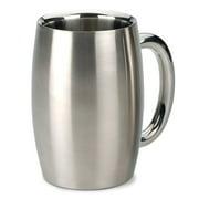 RSVP-INTL Endurance Beer Mug 15 oz. Stainless Steel by Beer Mugs