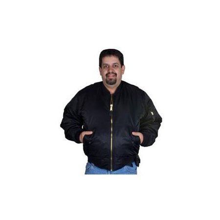 Fox Outdoor Mens MA-1 Flight Jacket, Black, XL 099598040116