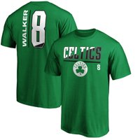 Men's Fanatics Branded Kemba Walker Kelly Green Boston Celtics Baseline Fade Name & Number T-Shirt