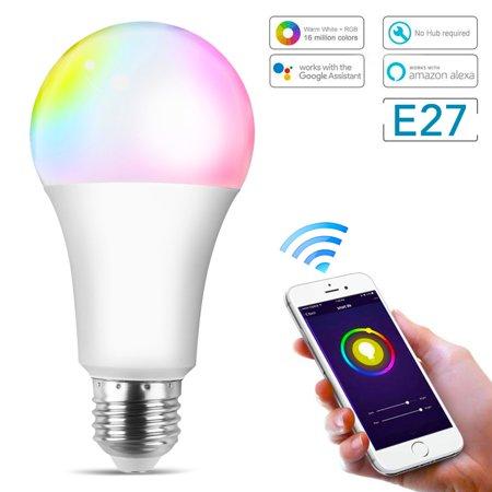 Wifi Light Bulb >> Tsv E27 Smart Light Bulb 10w Rgbw Wifi Smart Bulbs Remote Control Smart Wifi Led Bulb Warm White Dimmable Multicolor Smart Led Light No Hub