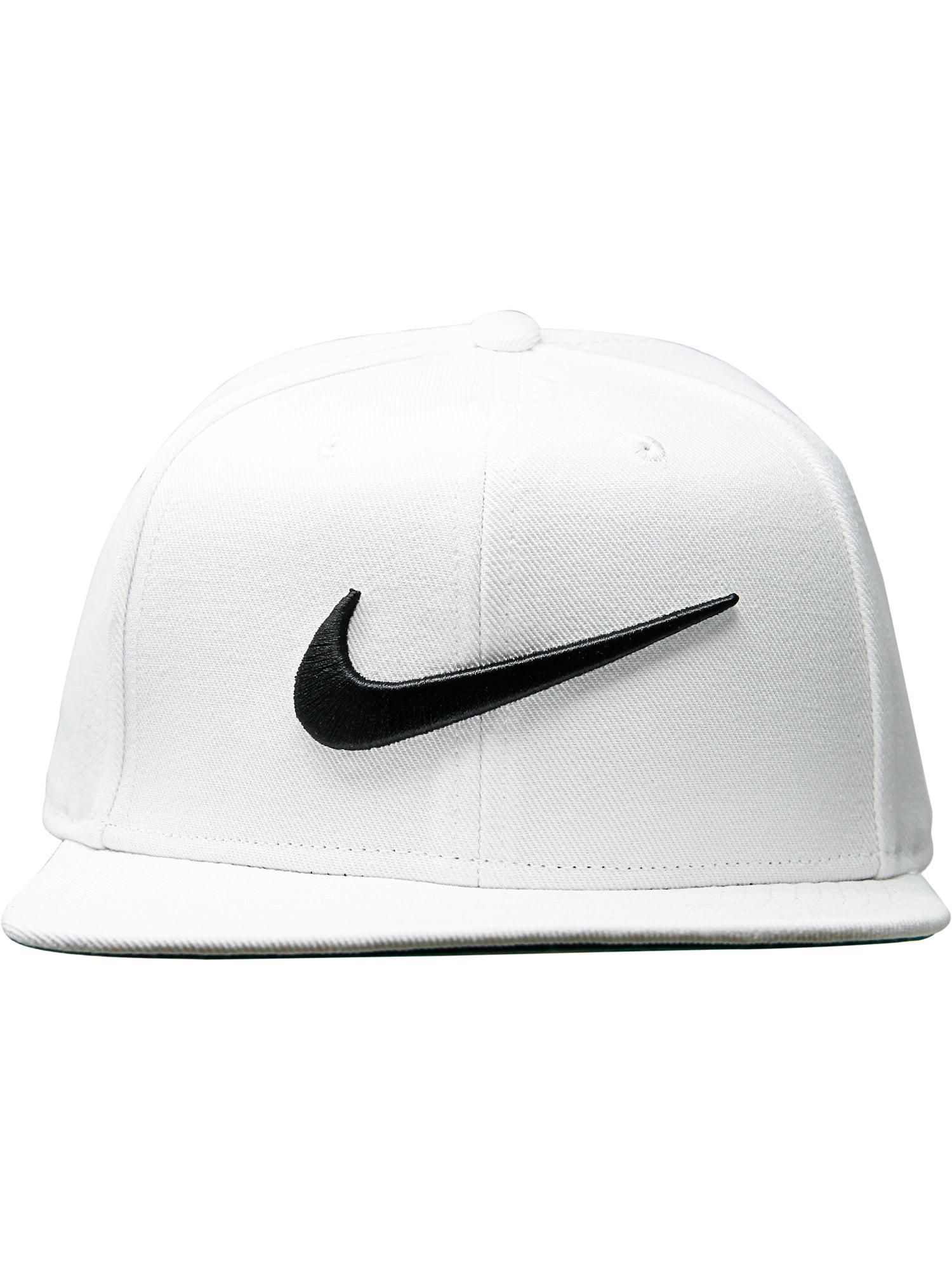 Nike White   Black Pro Swoosh Classic Snapback Hat - One Size 471b31e6e40a