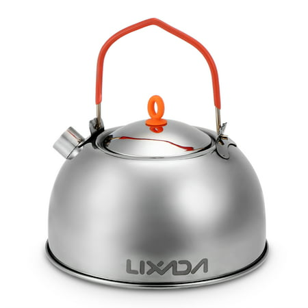 0.6L Stainless Steel Tea Kettle Portable Outdoor Camping Hiking Water Kettle Teapot Coffee Pot - image 3 de 7