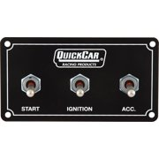 "Quickcar Racing Products 4-5/8 x 2-1/2"" Dash Mount Switch Panel P/N 50-731"