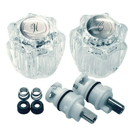 Danco 39675 Complete Faucet Repair Trim Kit, Clear, For Delta/Delux Double Handle Faucets 3 Pack